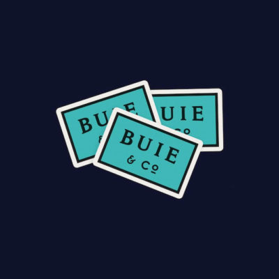 Buie teal stickers