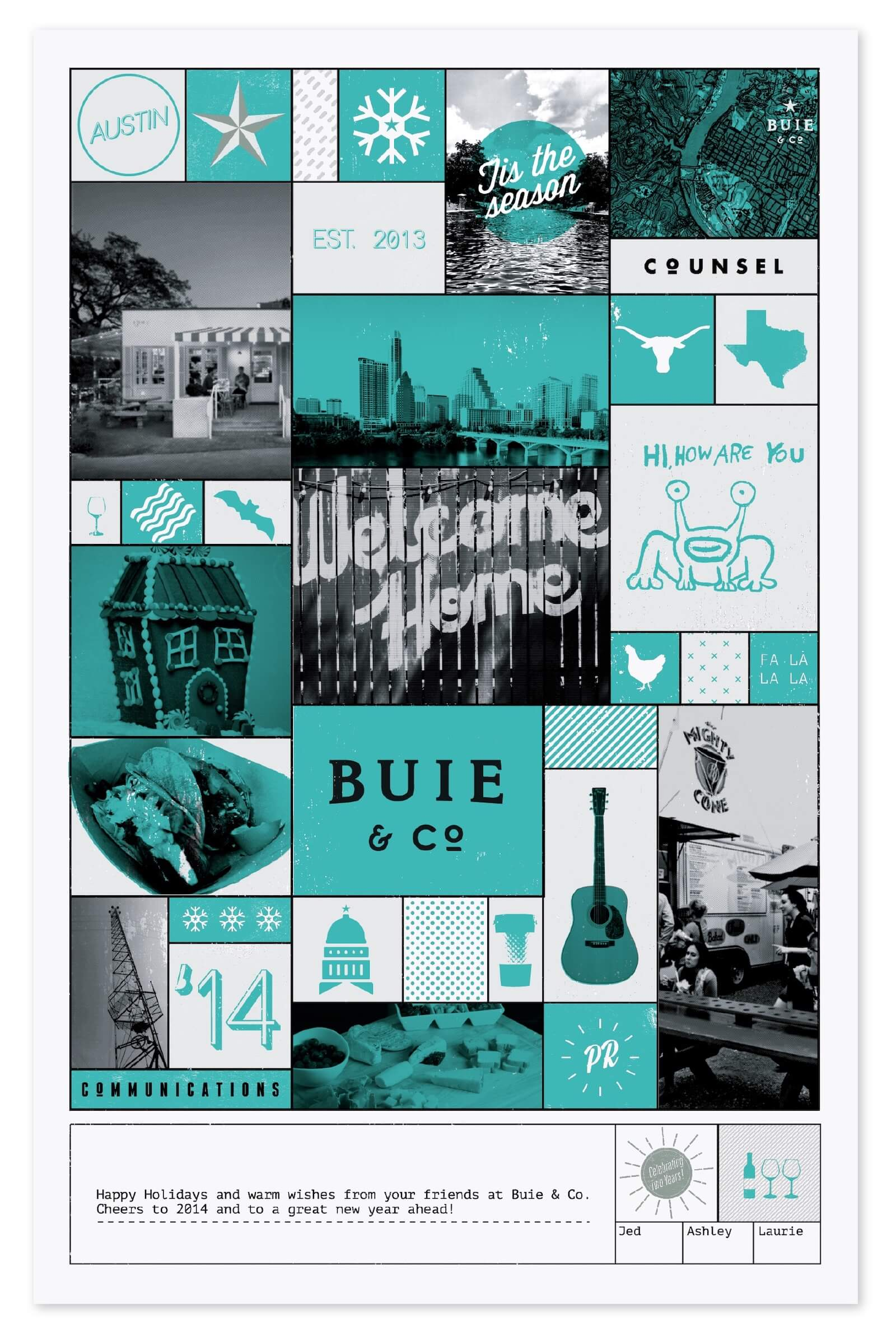 Buie and Company 2014 holiday poster design