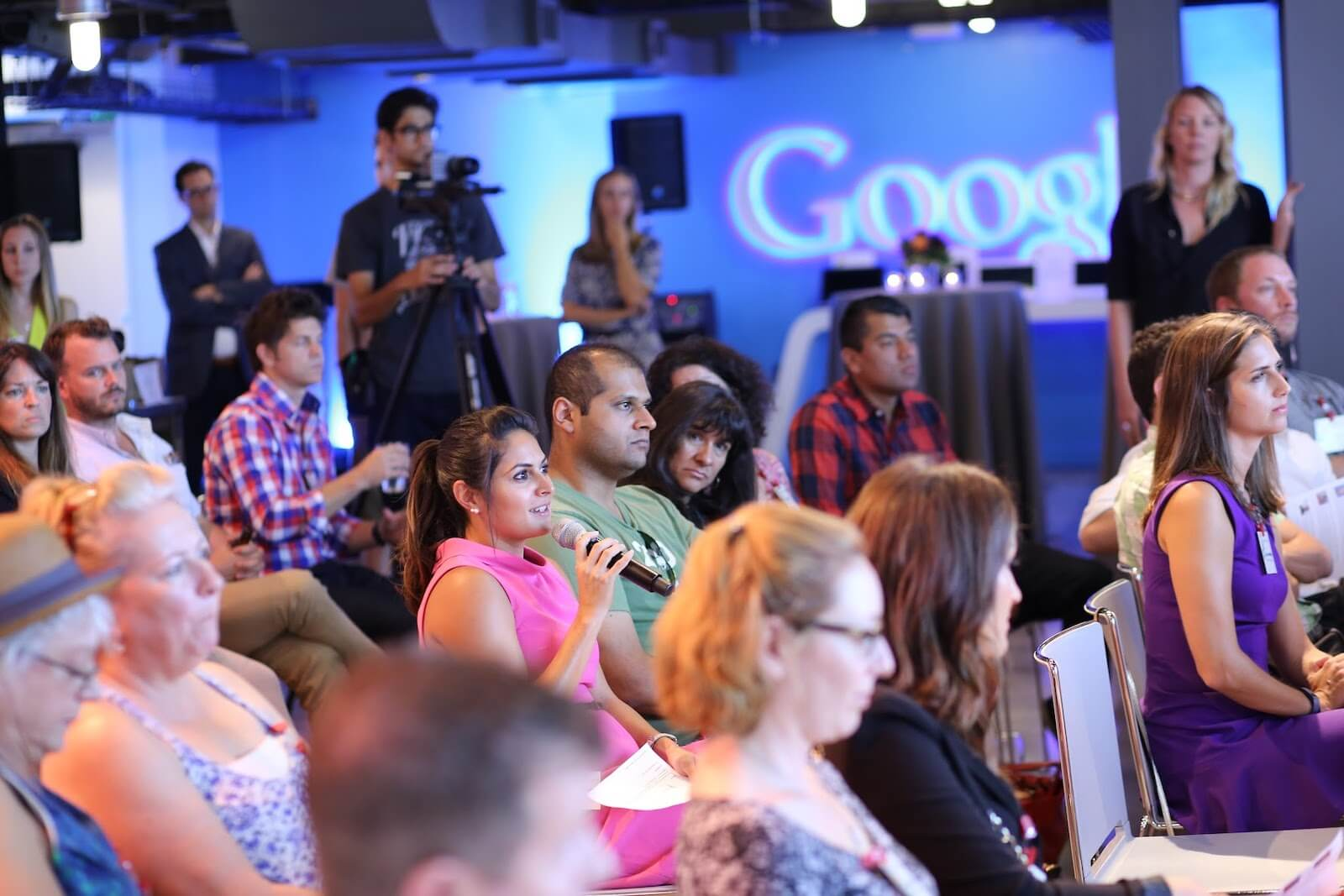 Google Business Leaders event audience
