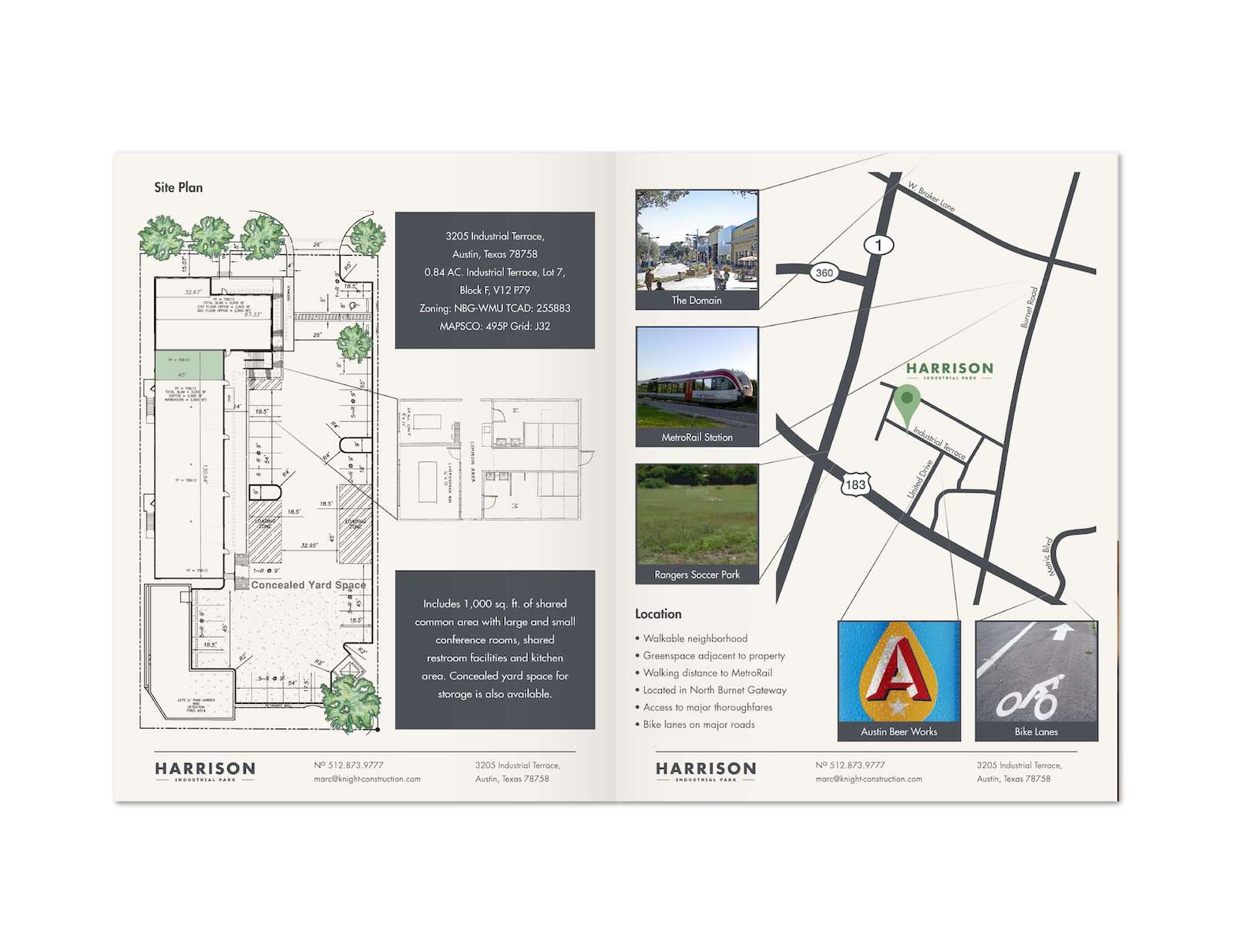 Harrison Industrial Park Informational Booklet Design